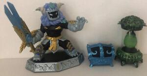Skylanders Wild Storm Figure Extra Level Cursed Tiki Temple Blue Chest Crystal