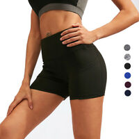 Women's Athletic Shorts High Waist Stretchy Running Home Fitness with Pockets