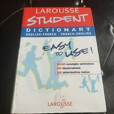 Larousse Student English French Dictionary