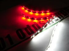 RC Red & White Underbody Black pcb LED Light strip Glow Car Truck Quadcopter 4x