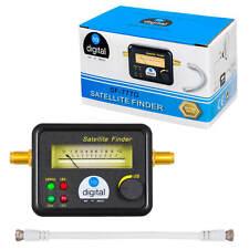 Satfinder Profi SAT Finder Messgerät für digital LNB 4 LED Signal Gold kontakte