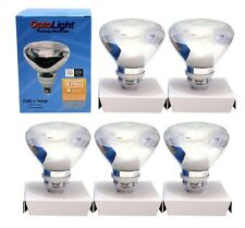 5 Optolight Flourescent Light Bulb Using 23W = 100W 120V 1250 Lumens Warm 2700 K
