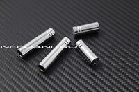 For Mercedes W212 W204 C E Class 63 AMG 300 350 Chrome Metal Door Lock Pin Knob