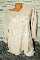 Italy Shirt Pulli Vintage Gr. 36 38 40 42 Shirt beige taupe blogger destroyed