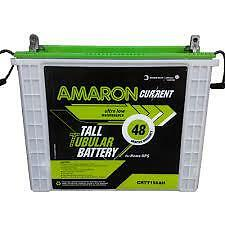 Amaron Current 150 AH TALL Tubular Battery Brand New - 48 Months Warranty