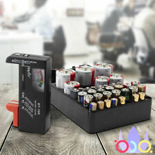 Universal Battery Tester Checker And Organizer Battery Slots Cell Batteries