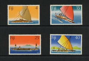F739 Fiji 1977 Expédié Canoes 4v. MNH