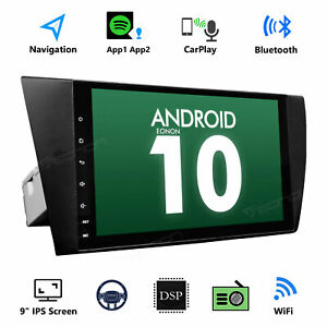 """Android 10 For BMW E90-E93 320 325 330 9"""" HD Radio Car Stereo Navigation GPS DSP"""