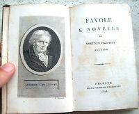 1825 FAVOLE E NOVELLE DI LORENZO PIGNOTTI DA AREZZO. SPLENDIDA LEGATURA