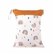 Waterproof Double Zip Wet Bag Rainbow & Rain 30x40cm - Medium