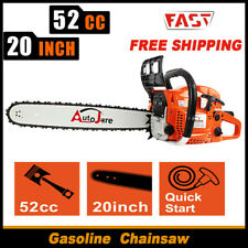 20 in 52Cc Gas Chainsaw Gasoline 2 Stroke Petrol Logging Easy Start Outdoor Saws