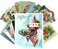 Postcards Pack [24 cards] Vintage Christmas Ornaments Cane Candles Bells CE5015