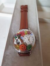 Whimsical Watches Unisex U1213001 Autumn Leaves Tan Leather Watch