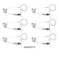 QTY 6 Pyle PMEMS10 In Ear Mini XLR Omni-Directional Microphone For Shure System