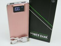 50000mah LCD Portable Power Bank 2 USB Outputs LED Flashlight Ships From USA
