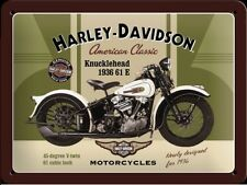 Harley Davidson Knucklehead Metal Sign 20 x 15 cm - Official Product