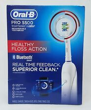 1 Oral-B PRO 5500 SmartSeries BrAun Bluetooth Rechargeable Toothbrush Timer Mode
