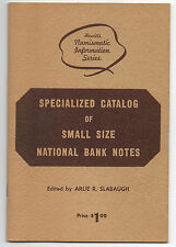 1960s Specialized Catalog of Small Size US National Bank Notes