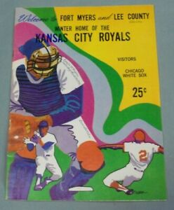 Kansas City Royals, 1971 Spring Training Game Program vs Chicago White Sox Clean