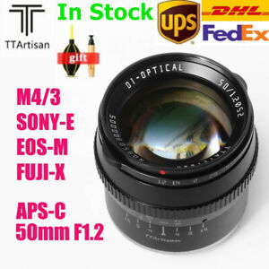 TTArtisan 50mm F1.2 APS-C Manual Lens For Fuji X Canon EOS M Sony E M4/3 Mount