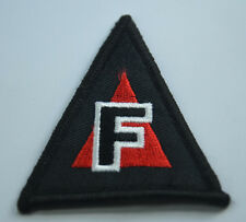 DANGER TRIANGLE FIRE ARMS  2 1/2' HOOK  LOOP PATCH BADGE EMBROIDERY APPLIQUE
