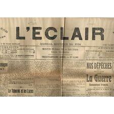 L'ÉCLAIR 19-1-1916 Le VIGAN Soirée Patriote La ROUVIÈRE Lièvre prisonnier ALAIS