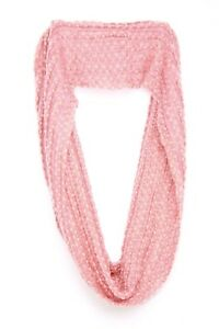 Baby Pink & Cream Infinity Interesting Knit Unique Fashionista Scarf/Snood (S50)