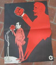 Affiche électorale présidentielle propagande CDR - François MITTERAND