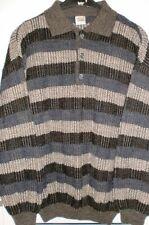 Pullover mit Knopfleiste Streifen Design by VIA CORTESA  30 % Wolle