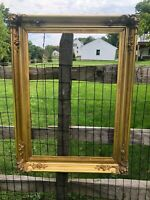 American 19th C Hudson River Fluted Cove  Gold Leaf Picture Frame 21' BY 30""