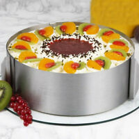 "Adjustable 6""-12"" Stainless Steel Round DIY Mousse Cake Mold Layer Baking Tool"