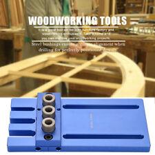 3IN 1 6-10mm Morsetto Guida Per Tasselli Legno Trapano Tavole Di Legno Drilling