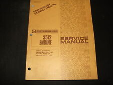CAT CATERPILLAR 3512 ENGINE SERVICE SHOP REPAIR BOOK MANUAL 49Y 50Y 51Y