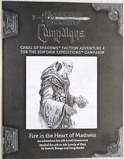 D&D Fire In The Heart Of Madness RPGA Module,Xen'Drik Expeditions Campaign