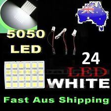 24 SMD 5050 LED LIGHT PANEL  White Car Interior Bulb Lamp T10 BA9S Dome Adapter