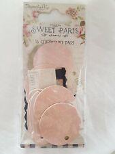 Mini Tab Tags Chipboard Sweet Paris 16 Pieces -