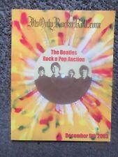 "2003 ""The Beatles Rock n Pop Auction"" 162 Pg Catalog + Other Rock/Pop Artists Nm"