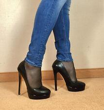 Gr.44 TOP Exklusiv 16cm Sexy Damen Schuhe Stiletto Plateau Pumps große größen E5