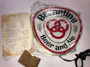 Ballantine Beer & Ale Two-Sided Lighted Beer Sign ***New In Original Box***