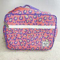 HERSCHEL SUPPLY Co. Brand Zipper LUNCH BOX Cooler INSULATED Pink Cheetah Print