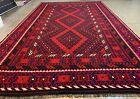 Afghan Hand Knotted Woven Maimana Ghulmori Wool Kilim Kilm Area Rug 14.1 x 8.5