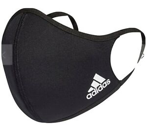 Official GENUINE Adidas 3 Stripes Face Covering BLACK New Washable Med Large