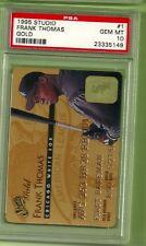 1995 Studio GOLD Frank Thomas #1 credit card baseball HOF PSA 10 Gem Mint