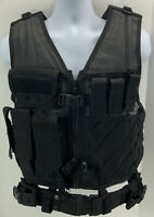 Tactical Vest Ammo Pouches Black Mens Size Medium Adjustable