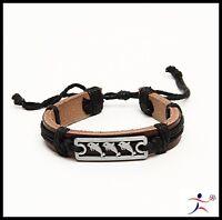 Man Cuff Hemp Surfer Tribal MultiWrap Wrist Leather Bracelet