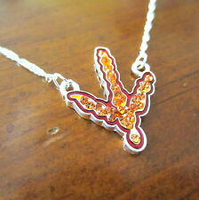new! VT VIRGINIA TECH HOKIES MAROON ORANGE CRYSTAL PENDANT NECKLACE fan jewelry