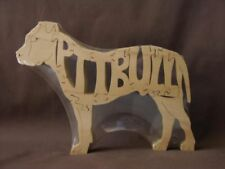 Pit Bull Dog Wooden Amish Made Toy Scroll Saw Puzzle