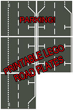 """LEGO 8.5""""x11"""" Printable Road Plate Parallel Dark Gray PDF on CD New style"""