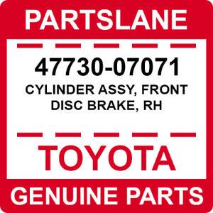 47730-07071 Toyota OEM Genuine CYLINDER ASSY, FRONT DISC BRAKE, RH