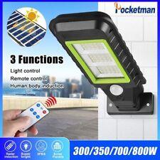 Solar Remote Street Light Motion Sensor Wall Light Garden Lamp Night Light